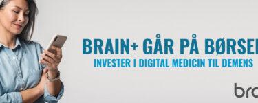 Nordnet live: CEO fra børsaktuelle Brain+ tager imod spørgsmål